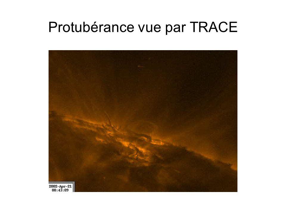 Protubérance vue par TRACE