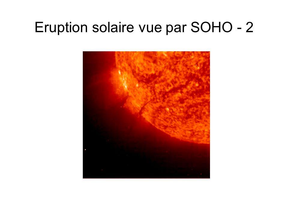 Eruption solaire vue par SOHO - 2