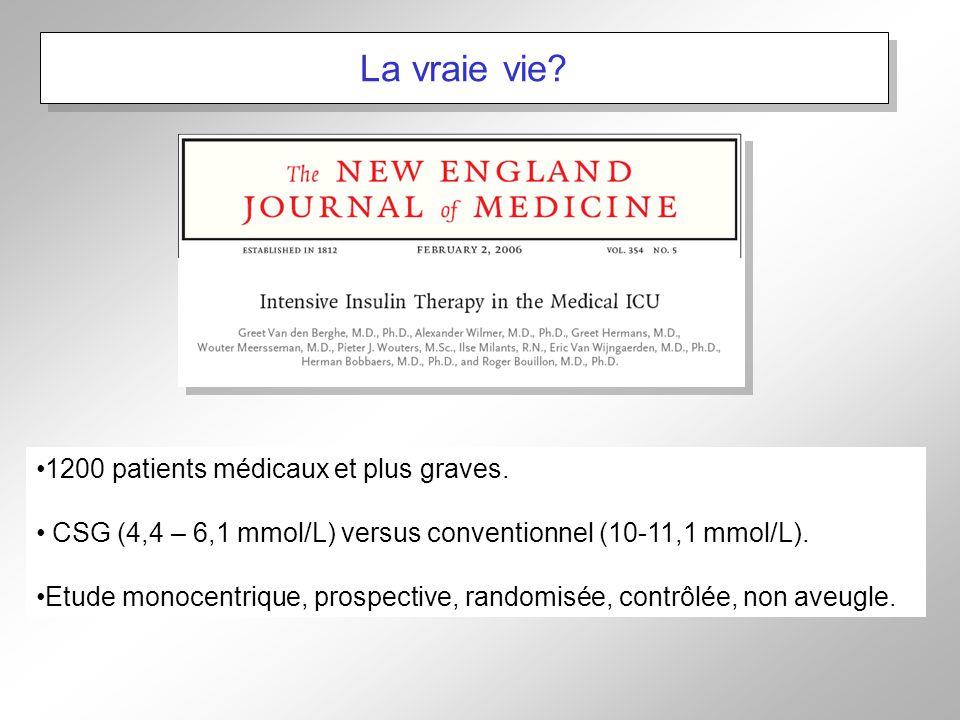 La vraie vie. 1200 patients médicaux et plus graves.