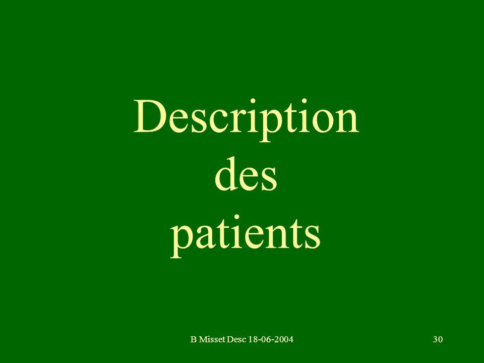 B Misset Desc 18-06-200430 Description des patients