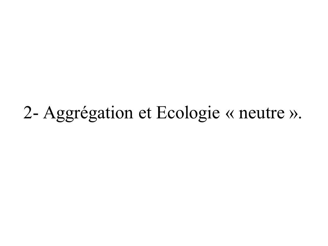 2- Aggrégation et Ecologie « neutre ».