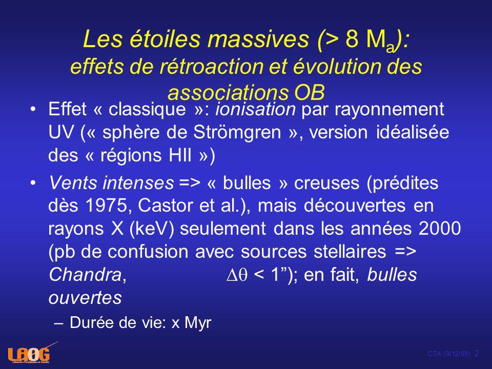 Chandra: PI L.Townsley; Montmerle et al. in prep.