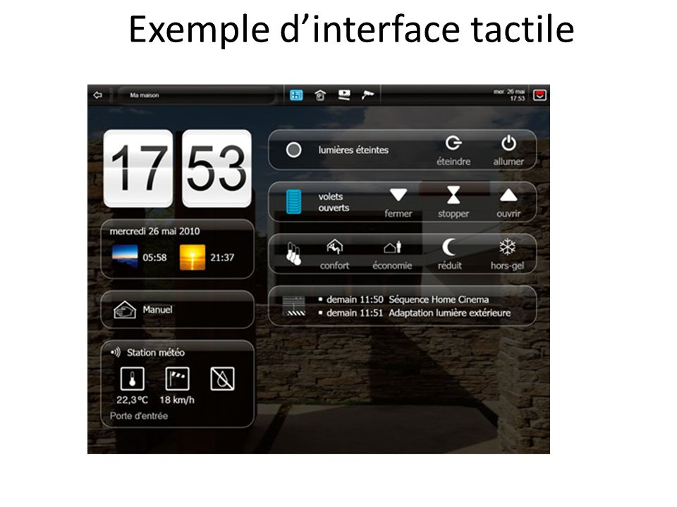 Exemple dinterface tactile
