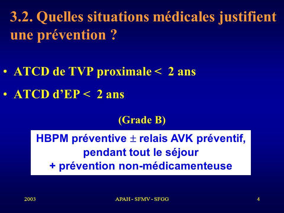 2003APAH - SFMV - SFGG4 3.2.Quelles situations médicales justifient une prévention .