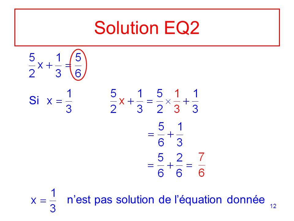 12 Solution EQ2 Si nest pas solution de léquation donnée
