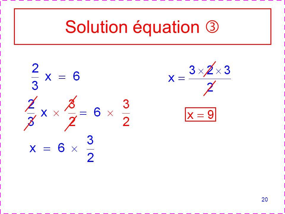 20 Solution équation