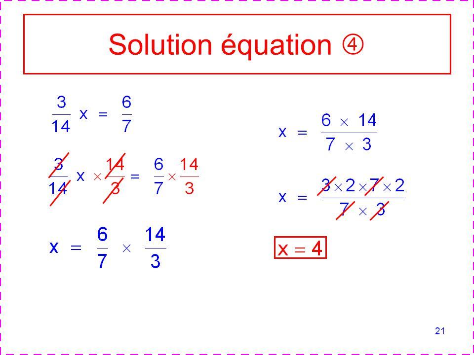 21 Solution équation