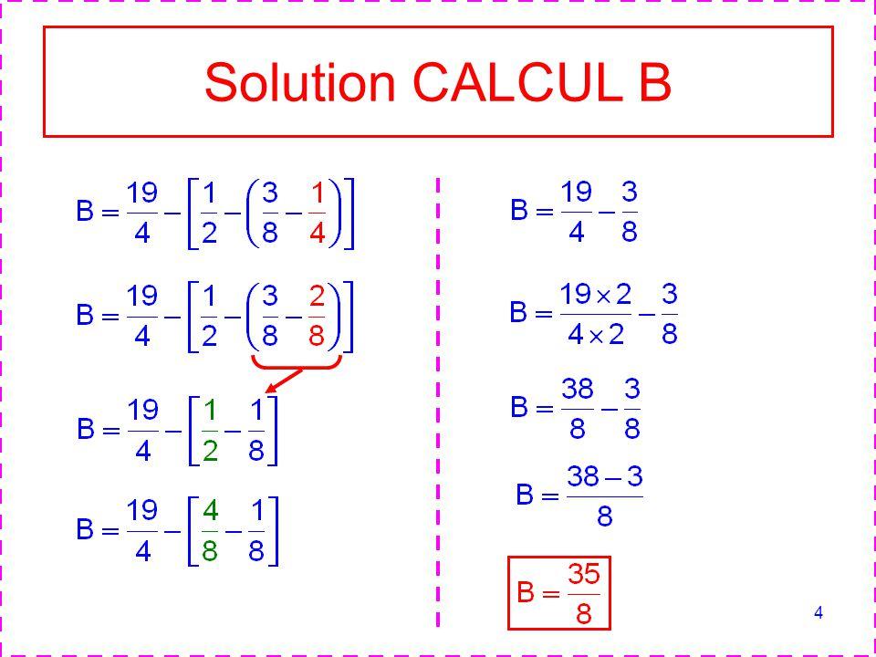 4 Solution CALCUL B