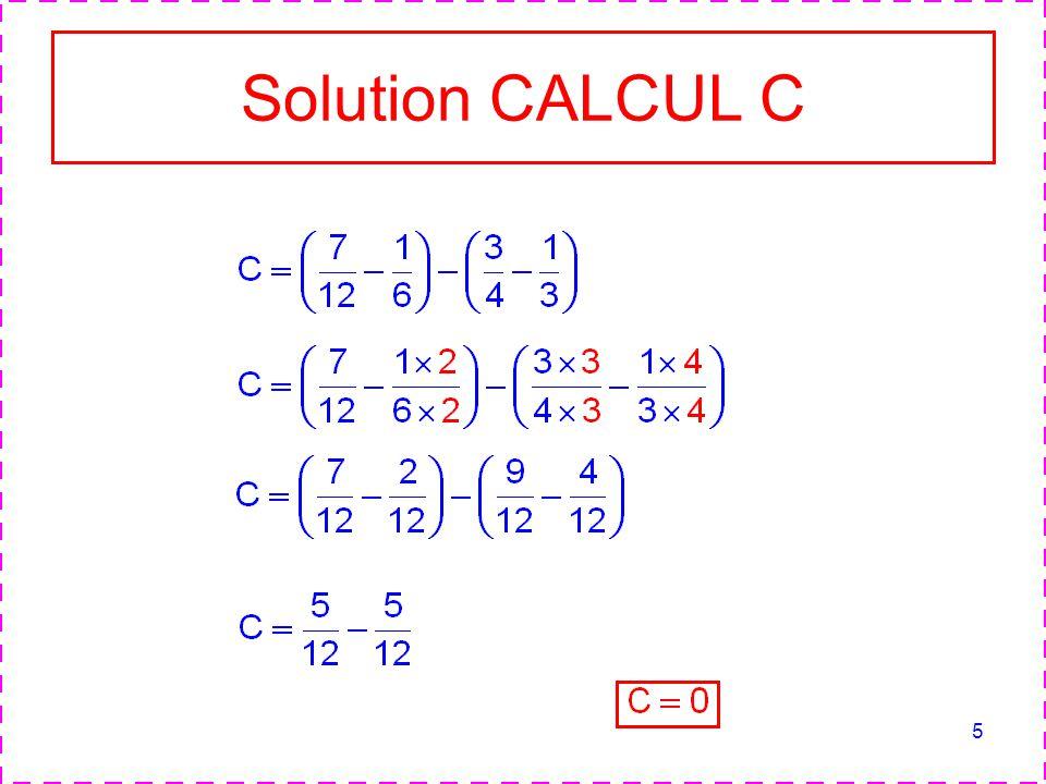 5 Solution CALCUL C
