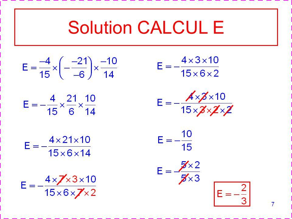 7 Solution CALCUL E