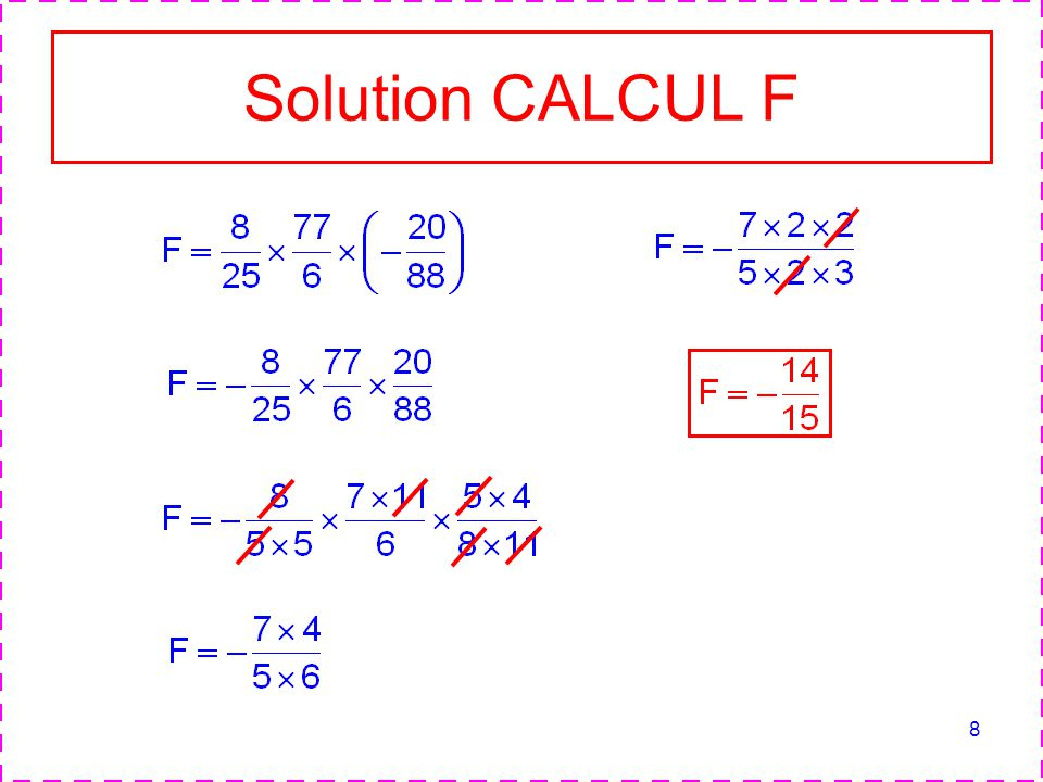 8 Solution CALCUL F