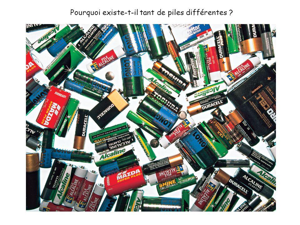 Pourquoi existe-t-il tant de piles différentes ?