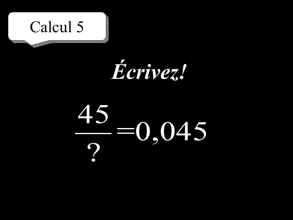 Calcul 5 Réfléchissez!