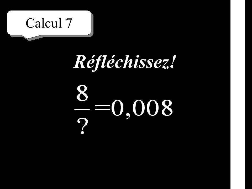 Calcul 6 Écrivez!