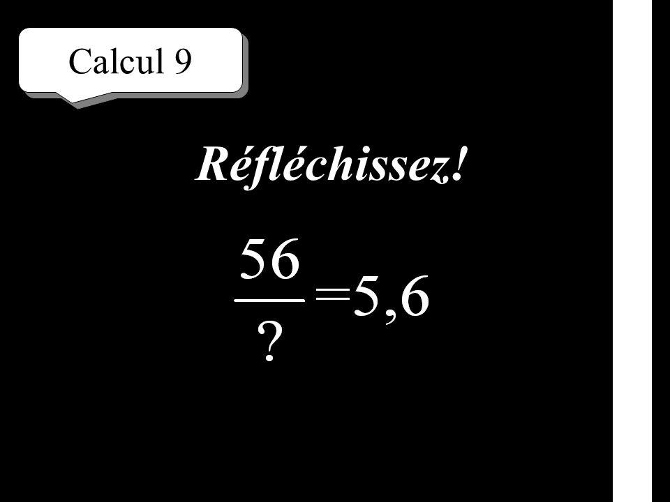 Calcul 8 Écrivez!