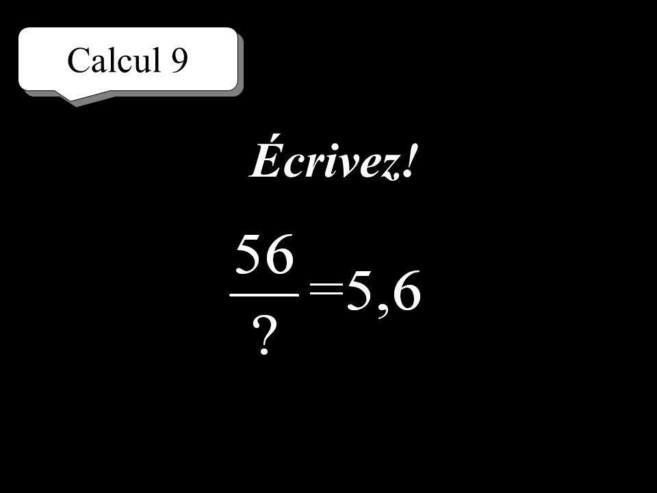 Calcul 9 Réfléchissez!