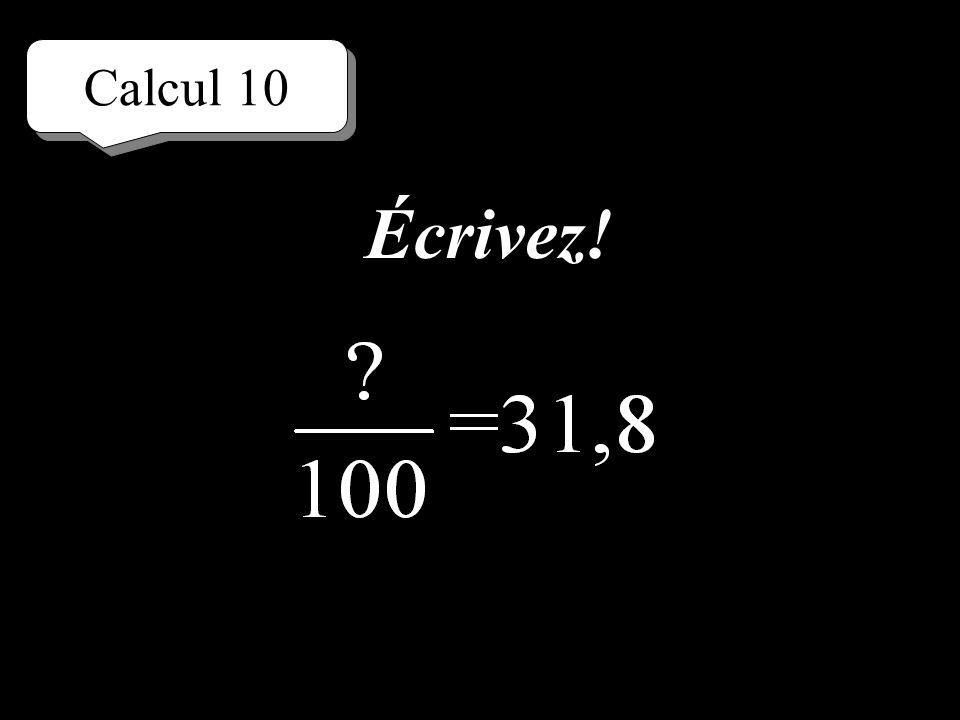 Calcul 10 Réfléchissez!