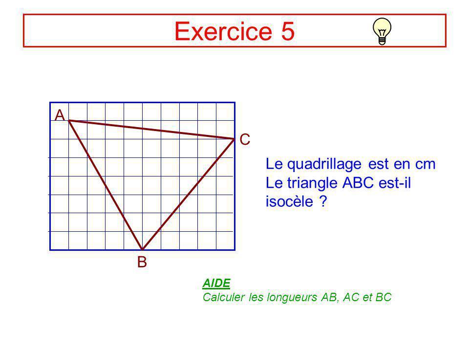 Correction Ex4 LM = 5 et LK = 7 MK ? MK L 7 5 Le triangle KLM est rectangle en M, donc : KL² = MK² + ML² (Théorème de Pythagore) Soit : 7² = MK² + 5²