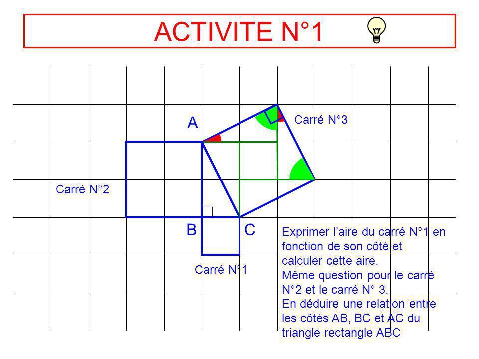 ACTIVITES 16- Le théorème de Pythagore