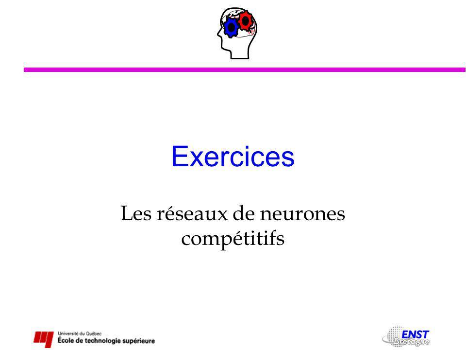 Exercices Les réseaux de neurones compétitifs