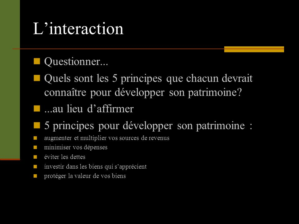 Linteraction Questionner...