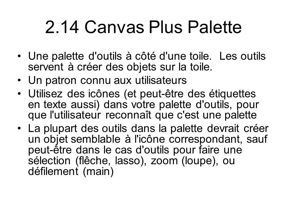 2.14 Canvas Plus Palette Une palette d outils à côté d une toile.