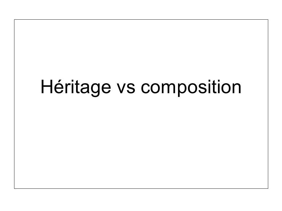 Héritage vs composition