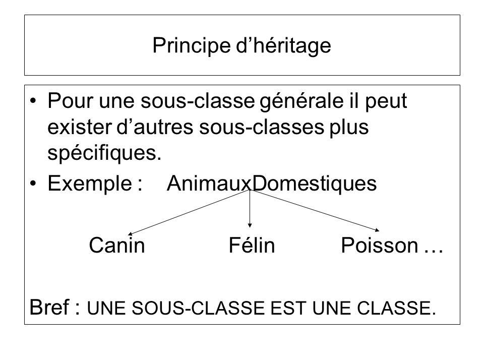 Principe dhéritage Quest-ce que les sous-classes ont en commun .