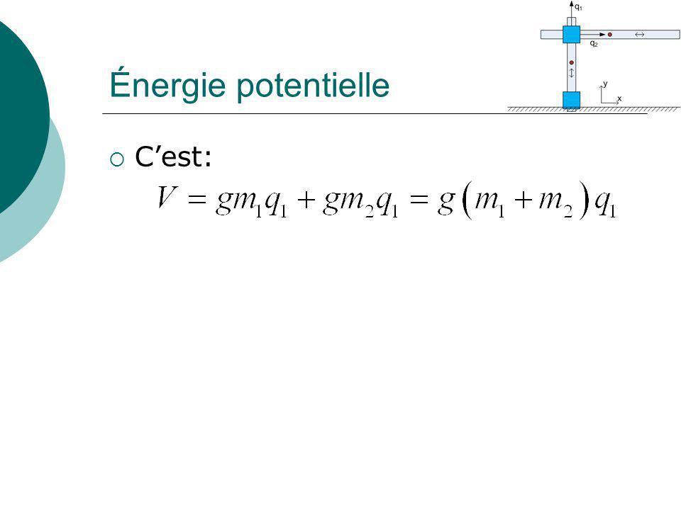 Énergie potentielle Cest: