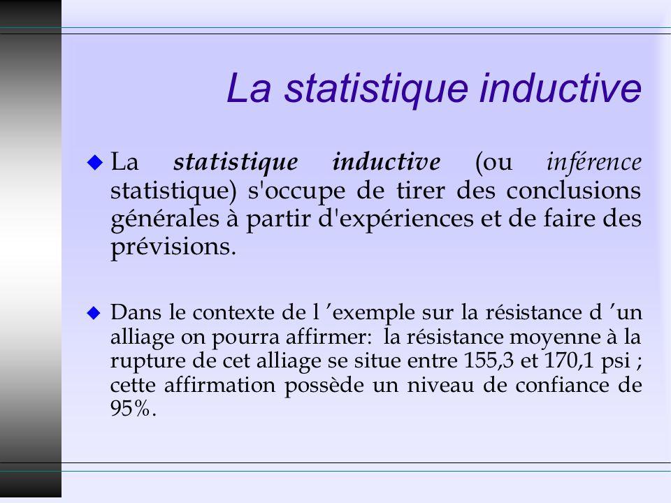 Variable statistique (1) u Caractéristique susceptible de variations observables.