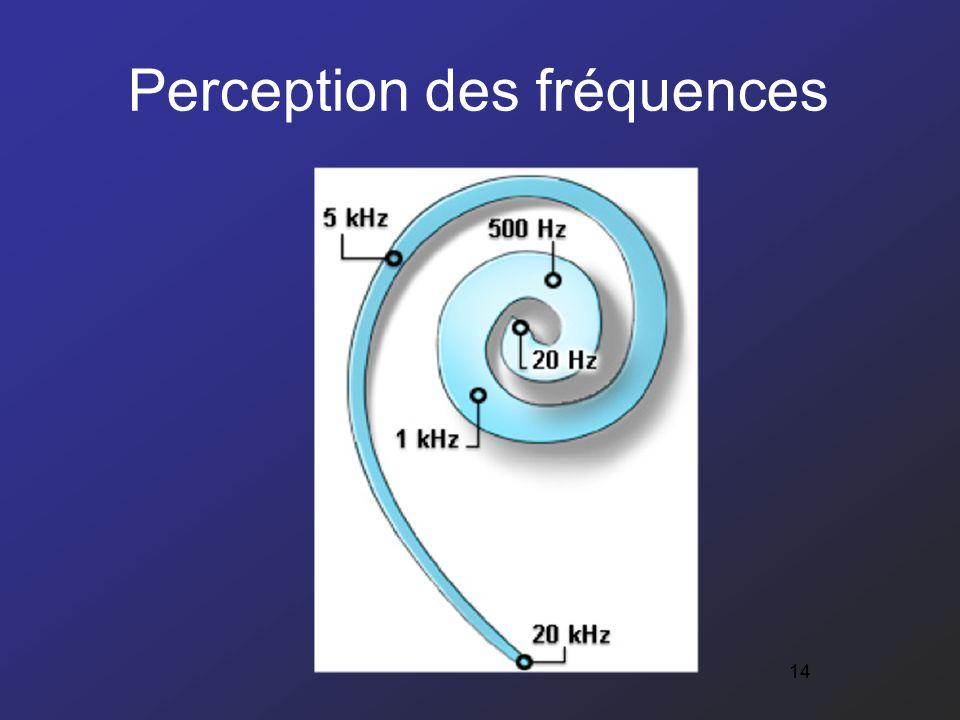 14 Perception des fréquences 14