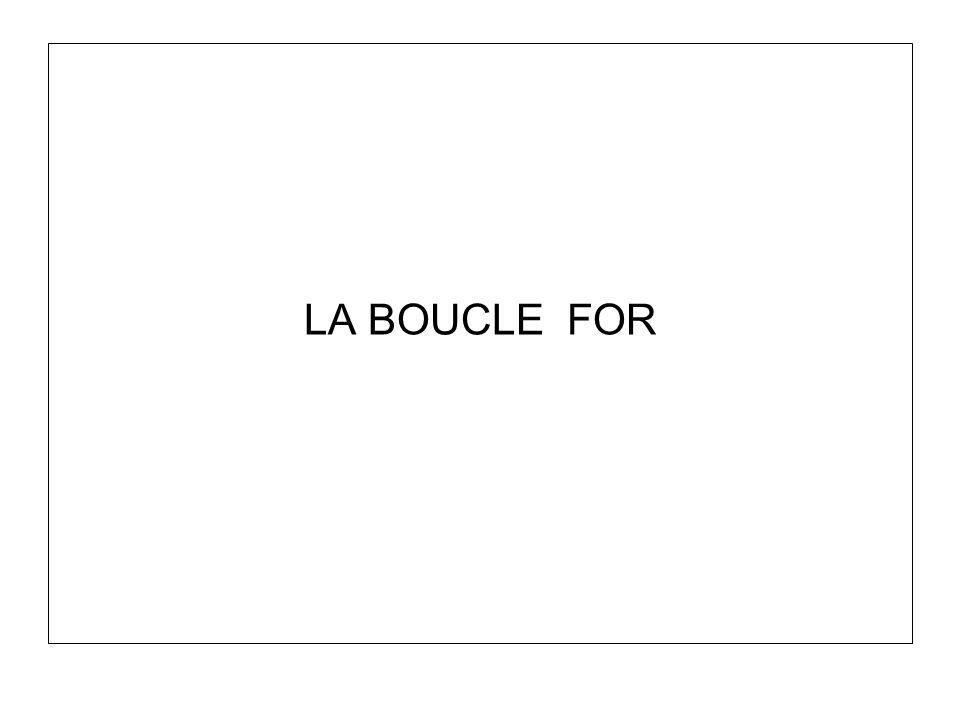 LA BOUCLE FOR