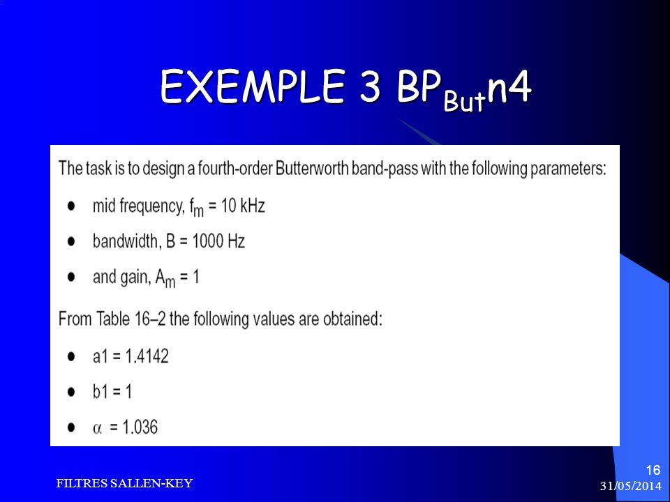 31/05/2014 FILTRES SALLEN-KEY 16 EXEMPLE 3 BP But n4