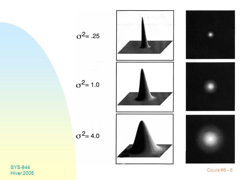 SYS-844 Hiver 2005 Cours #6 - 67 u Érosion Image (A) Élément structurant (B) A B