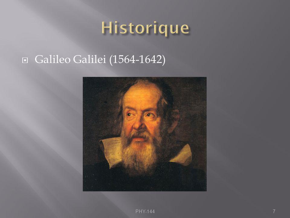 Galileo Galilei (1564-1642) PHY-1447