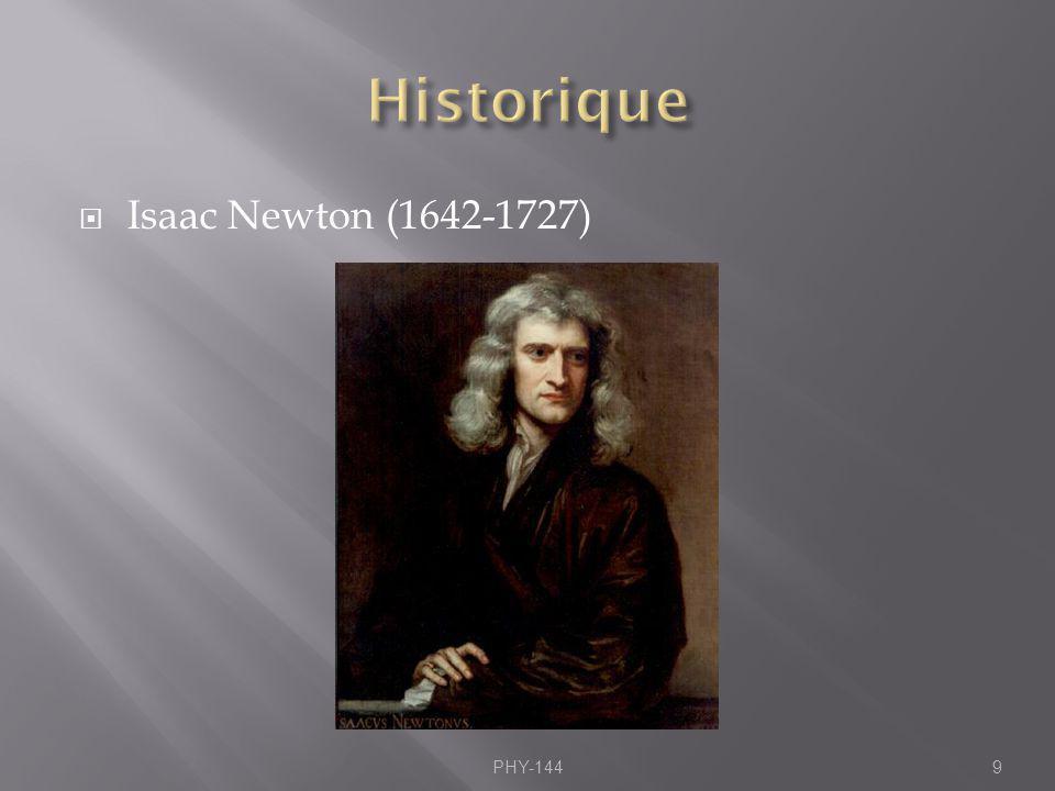 Selon Newton, lorsque, il y a variation du mouvement de lobjet, en grandeur et en direction.