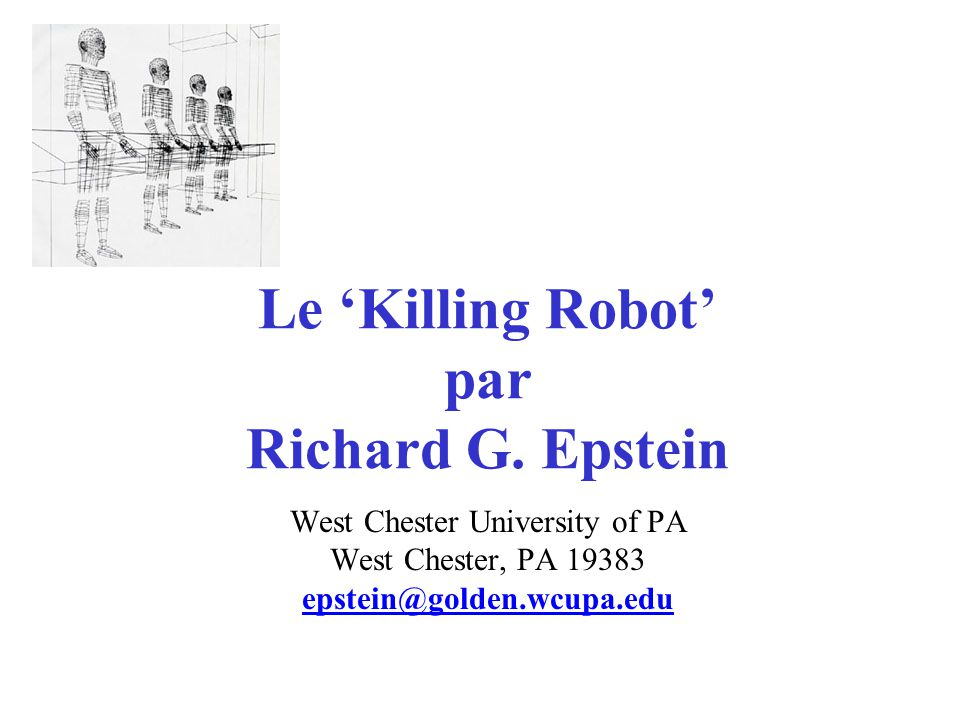 Le Killing Robot par Richard G.