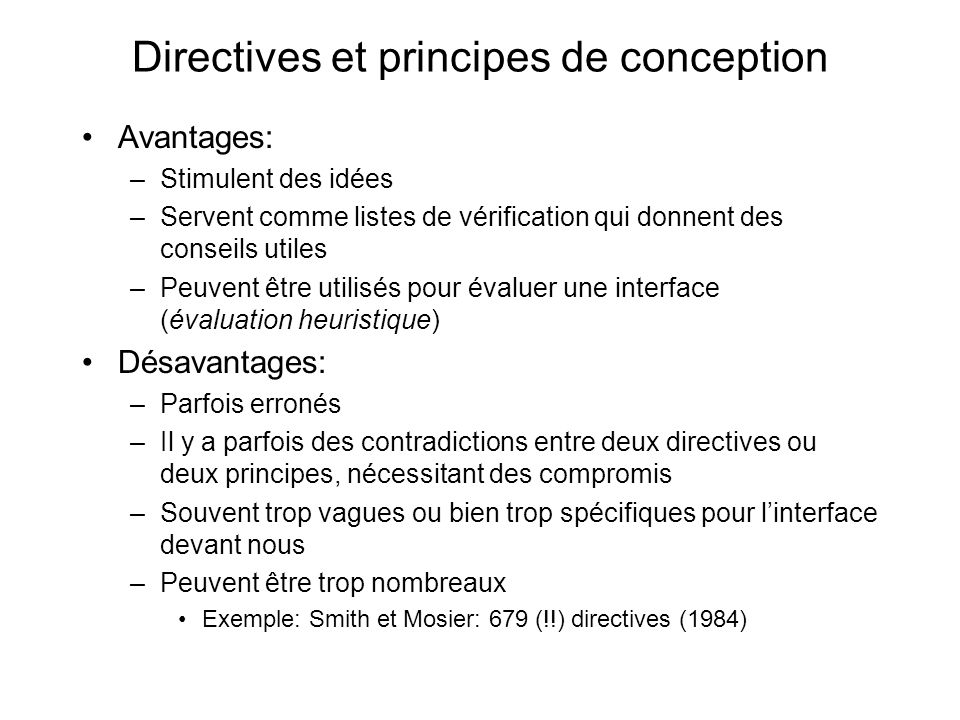 Des principes de Shneiderman: 8 règles dor 1.