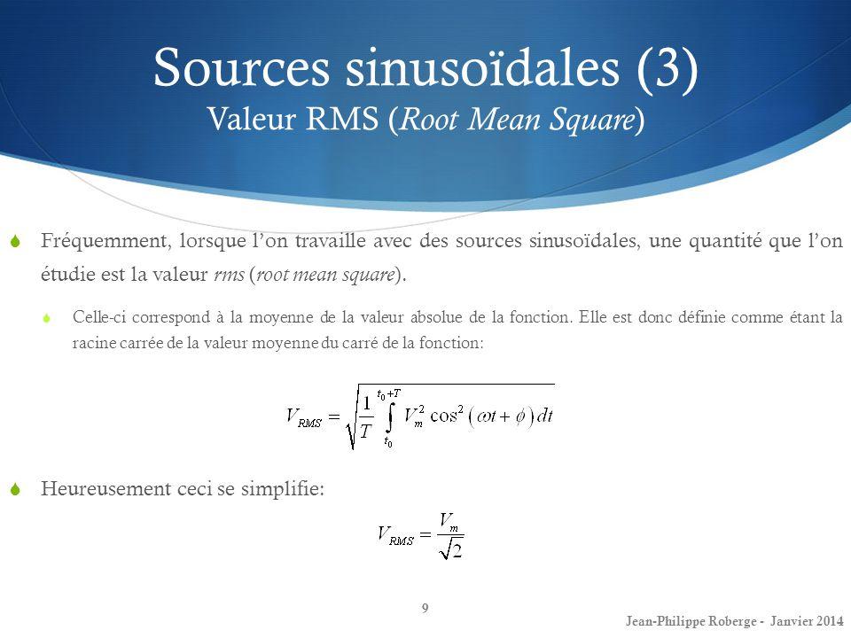 Jean-Philippe Roberge - Janvier 201420 Impédance et réactance (3)