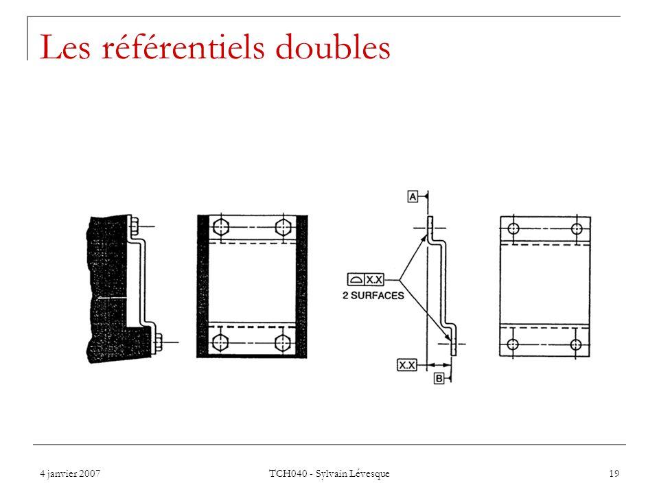 4 janvier 2007 TCH040 - Sylvain Lévesque 19 Les référentiels doubles