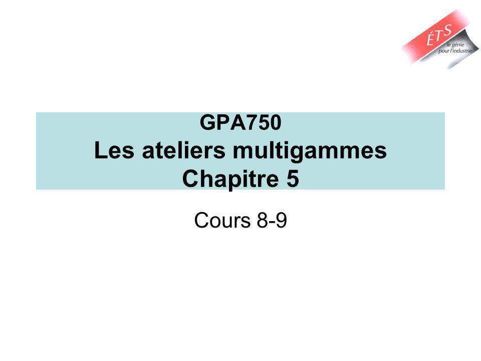 GPA750 Les ateliers multigammes Chapitre 5 Cours 8-9