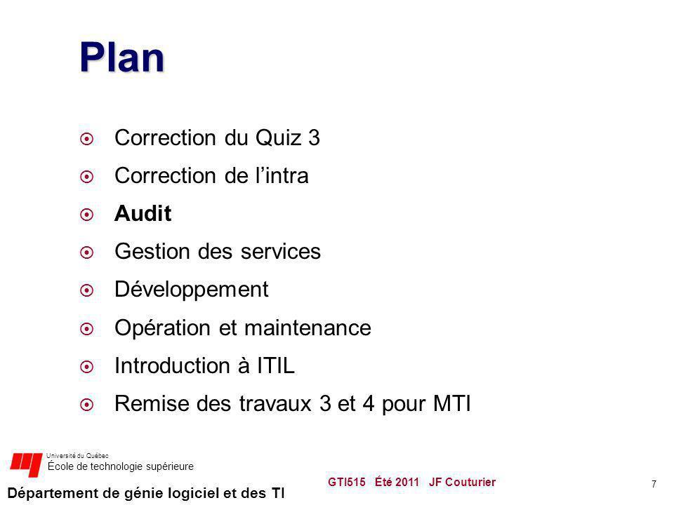 Département de génie logiciel et des TI Université du Québec École de technologie supérieure SCRUM Méthodologie de développement agile respectant plusieurs critères plus ou moins contraignant http://www.controlchaos.com/ http://www.scrumalliance.org/ Traduction GTI515 Été 2011 JF Couturier 48