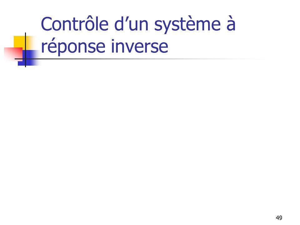 Contrôle dun système à réponse inverse 49