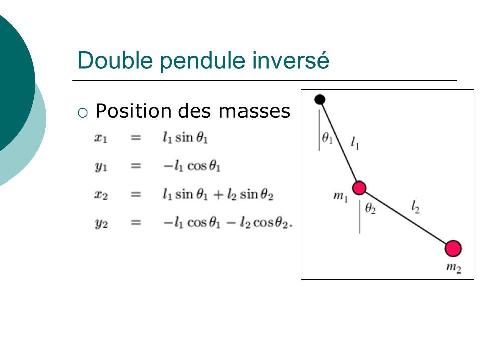 Double pendule inversé Position des masses
