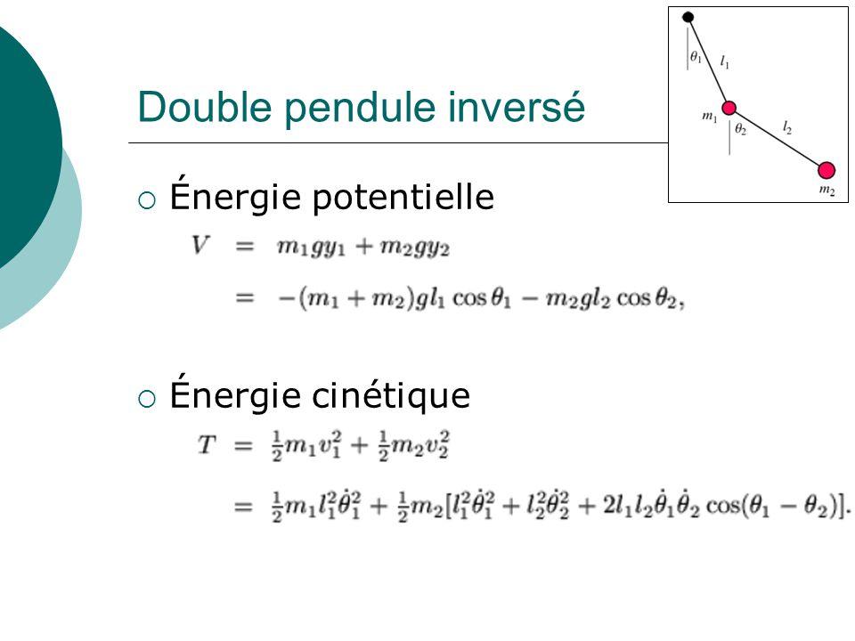 Double pendule inversé Énergie potentielle Énergie cinétique