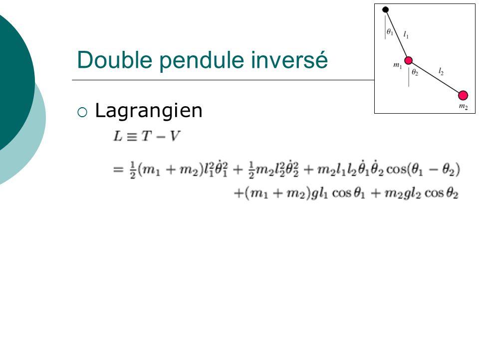 Double pendule inversé Lagrangien