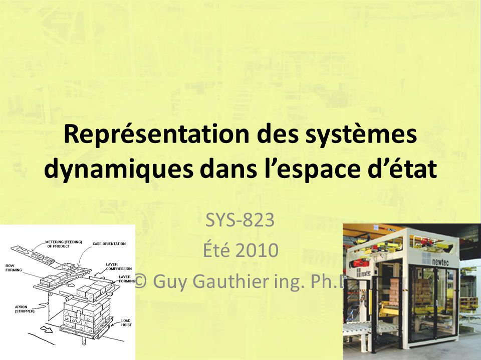 Exemple Solution : Si z(0) = [1 0] T : 72(c) Guy Gauthier ing.Ph.D.