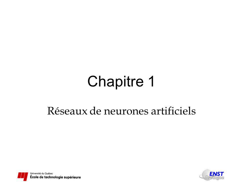 Chapitre 1 Réseaux de neurones artificiels