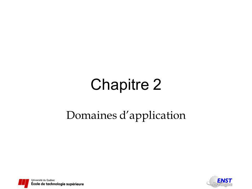 Chapitre 2 Domaines dapplication