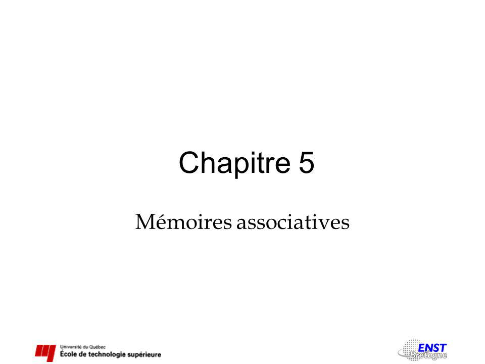 Chapitre 5 Mémoires associatives